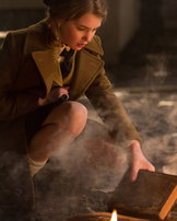 part two the book thief this shows liesel as she steals her second book this is important because it shows that she is going to continue to steal books